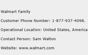 Walmart Family Phone Number Customer Service