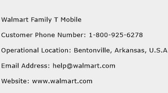 Walmart Family T Mobile Phone Number Customer Service