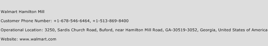 Walmart Hamilton Mill Phone Number Customer Service