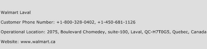 Walmart Laval Phone Number Customer Service