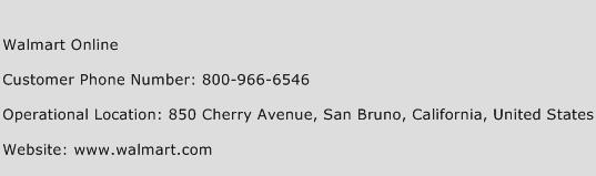Walmart Online Customer Service Phone Number | Contact Number ...