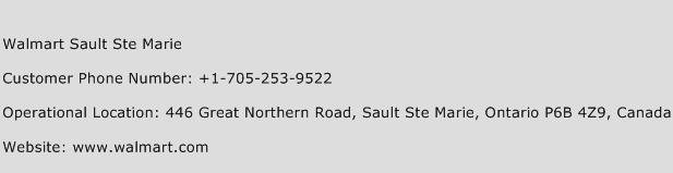 Walmart Sault Ste Marie Phone Number Customer Service