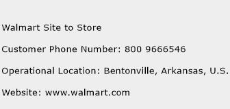 Walmart Site to Store Phone Number Customer Service