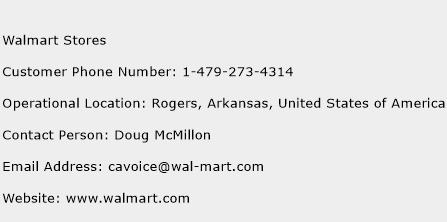 Walmart Stores Phone Number Customer Service