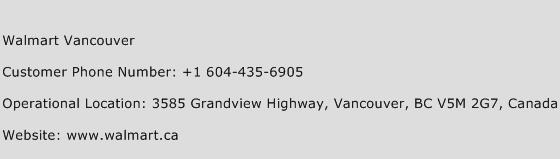 Walmart Vancouver Phone Number Customer Service