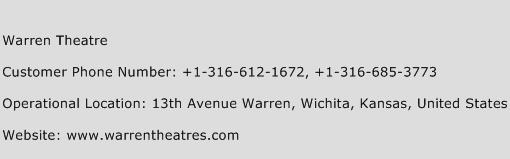 Warren Theatre Phone Number Customer Service