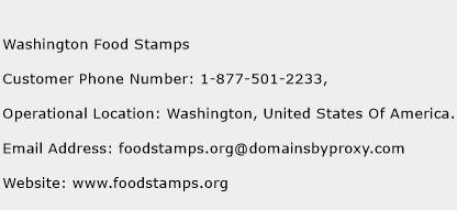 Washington Food Stamps Phone Number Customer Service