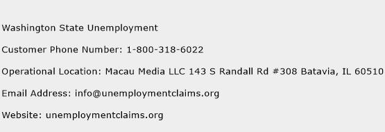 Washington State Unemployment Phone Number Customer Service
