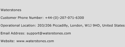 Waterstones Phone Number Customer Service