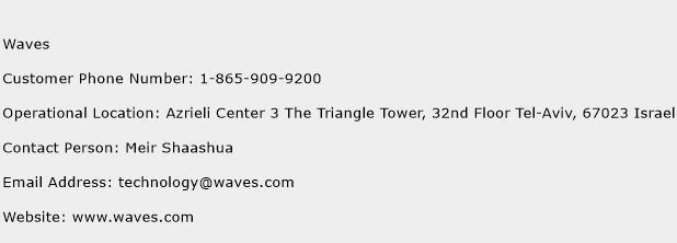 Waves Phone Number Customer Service