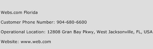 Webs.com Florida Phone Number Customer Service