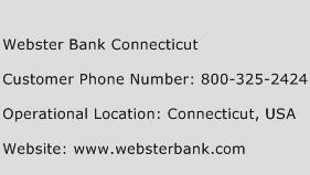 Webster Bank Connecticut Phone Number Customer Service