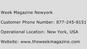 Week Magazine Newyork Phone Number Customer Service
