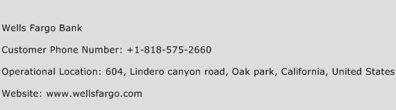 Wells Fargo Bank Phone Number Customer Service