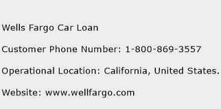 Wells Fargo Car Loan Phone Number Customer Service