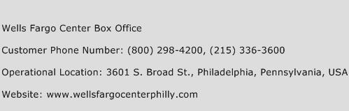 Click Here To View Wells Fargo Center Box Office Customer Service Phone Numbers