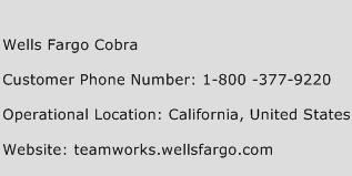 Wells Fargo Cobra Number | Wells Fargo Cobra Customer