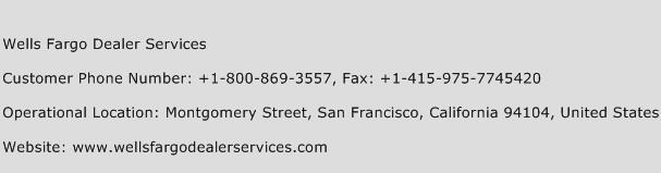 Wells Fargo Car Dealer Services Customer Service