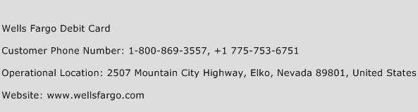 Wells Fargo Debit Card Phone Number Customer Service