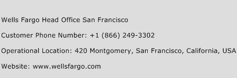 Wells Fargo Head Office San Francisco Phone Number Customer Service