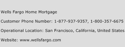 Wells Fargo Home Mortgage Phone Number Customer Service