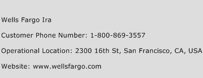 Wells Fargo Ira Phone Number Customer Service