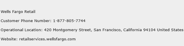 Wells Fargo Retail Phone Number Customer Service
