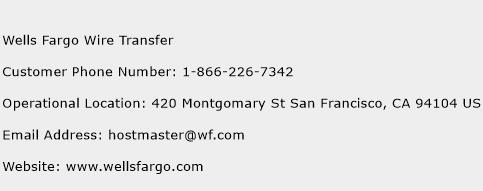 Wells Fargo Wire Transfer Phone Number Customer Service