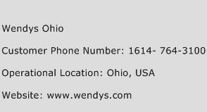 Wendys Ohio Phone Number Customer Service