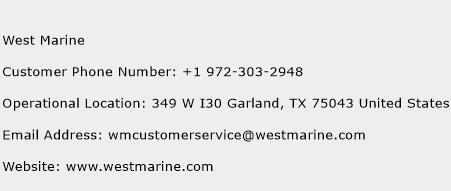West Marine Phone Number Customer Service