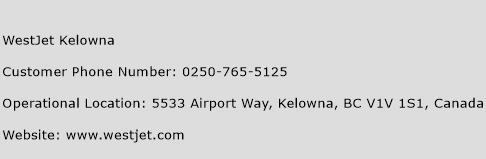 WestJet Kelowna Phone Number Customer Service