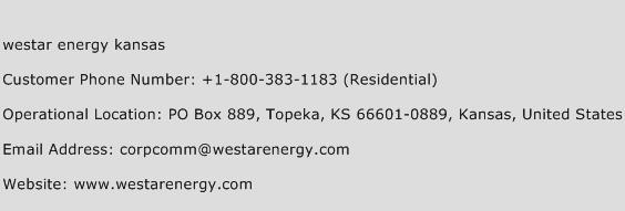 Westar Energy Kansas Phone Number Customer Service