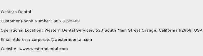 Western Dental Phone Number Customer Service