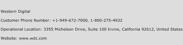 Western Digital Phone Number Customer Service