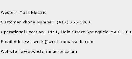 Western Mass Electric Phone Number Customer Service