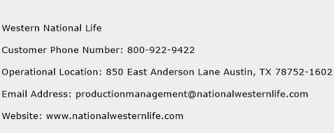 Western National Life Phone Number Customer Service