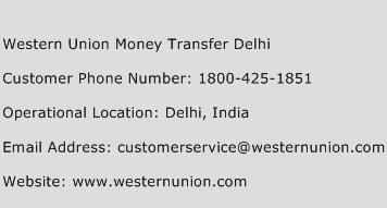 Western Union Money Transfer Delhi Phone Number Customer Service