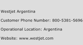Westjet Argentina Phone Number Customer Service