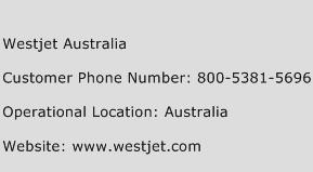 Westjet Australia Phone Number Customer Service