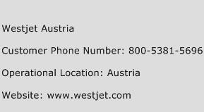 Westjet Austria Phone Number Customer Service