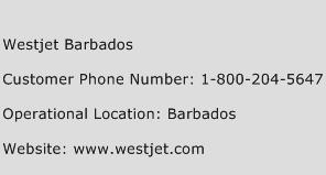 Westjet Barbados Phone Number Customer Service
