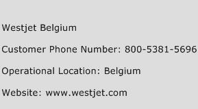 Westjet Belgium Phone Number Customer Service