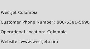 Westjet Colombia Phone Number Customer Service
