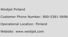 Westjet Finland Phone Number Customer Service