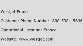 Westjet France Phone Number Customer Service