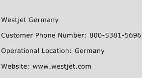 Westjet Germany Phone Number Customer Service