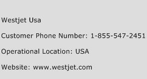Westjet Usa Phone Number Customer Service