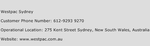 Westpac Sydney Phone Number Customer Service