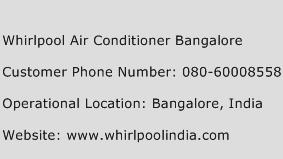 Whirlpool Air Conditioner Bangalore Phone Number Customer Service