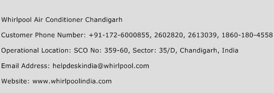 Whirlpool Air Conditioner Chandigarh Number Whirlpool